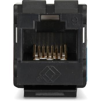 Black Box GigaTrue2 CAT6 Keystone Jack - Unshielded, 110 Punchdown Type, TAA, Black
