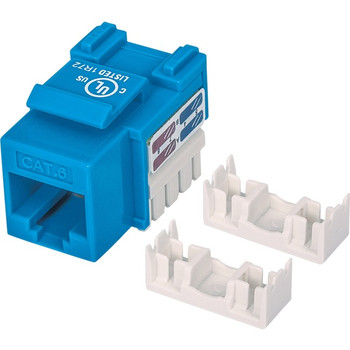 Intellinet Network Solutions Cat6 Keystone Jack, UTP, Punch-Down, Blue