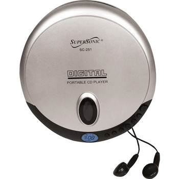 Supersonic SC-251 0 Byte CD Player - Silver