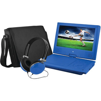 """Ematic EPD909 Portable DVD Player - 9"""" Display - 640 x 234 - Blue"""