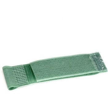 """Black Box Hook and Loop Cable Hanger - 1"""" x 2.5"""" , Green, 10-Pack"""