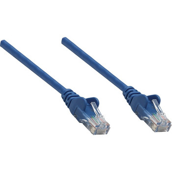 Intellinet Network Solutions Cat5e UTP Network Patch Cable, 1.5 ft (0.5 m), Blue