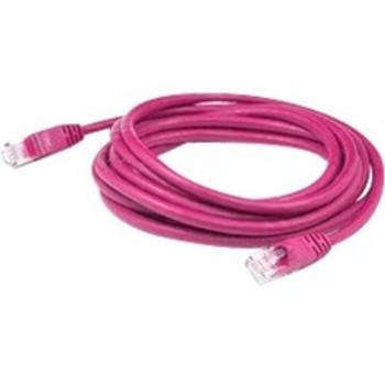 AddOn 1ft RJ-45 (Male) to RJ-45 (Male) Straight Pink Cat6 STP PVC Copper Patch Cable