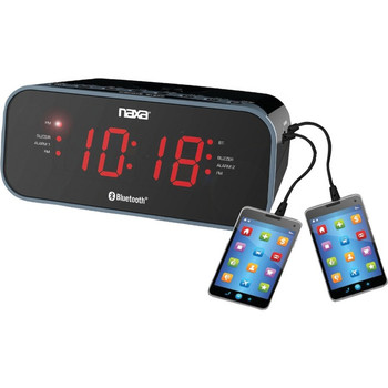 Naxa NRC-182 Desktop Clock Radio - Stereo