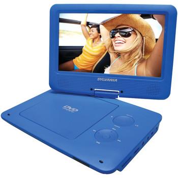 "Sylvania SDVD9020B Portable DVD Player - 9"" Display - 640 x 234 - Blue"