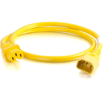 C2G 3ft 18AWG Power Cord (IEC320C14 to IEC320C13) - Yellow