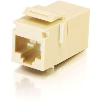 C2G RJ45 (8P8C) Coupler Keystone Insert Module - Ivory