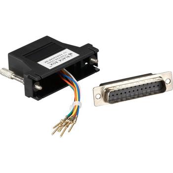Black Box Modular Adapter Kit - DB15M to RJ45F with Thumbscrews Black