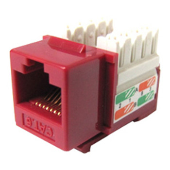 Weltron 8P8C Red Cat5E 568A/B Keystone Punch Down Jack (44-678RD)