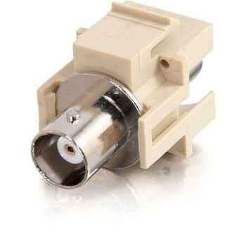 C2G Snap-In BNC F/F Keystone Insert Module - Ivory