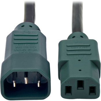 Tripp Lite 4ft Computer Power Cord Extension Cable C14 to C13 Green 10A 18AWG 4'