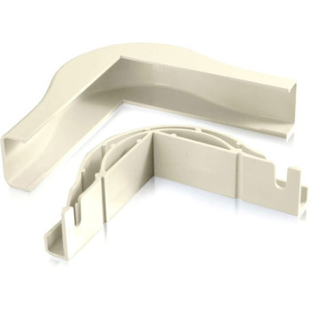 C2G Wiremold Uniduct 2800 Bend Radius Compliant External Elbow - Ivory