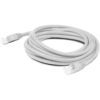 AddOn 2ft RJ-45 (Male) to RJ-45 (Male) Straight White Cat6A UTP PVC Copper Patch Cable