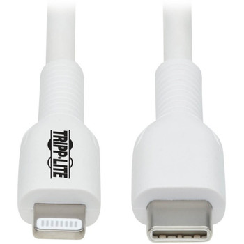 Tripp Lite USB-C to Lightning Sync/Charge Cable (M/M), MFi Certified, White, 2 m (6.6 ft.)