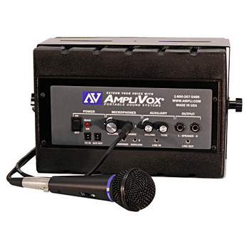 AmpliVox SS1230 Mity Box Amplified Speaker With Wired Mic