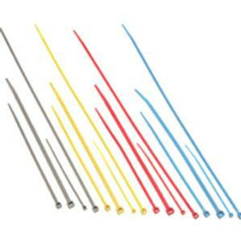 C2G 6in Nylon Cable Ties - Blue - 100pk