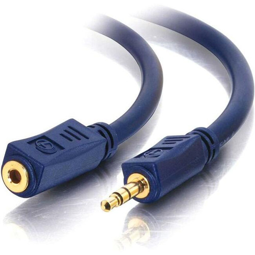 C2G 100ft Velocity 3.5mm M/F Stereo Audio Extension Cable