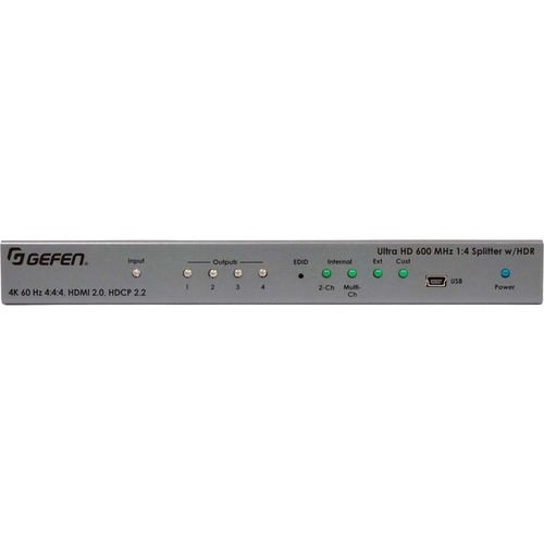 Gefen Ultra HD 600 MHz 1:4 Splitter for HDMI w/ HDR