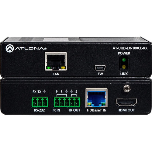 Atlona 4K/UHD HDMI Over 100M HDBaseT Receiver with Ethernet, Control and PoE