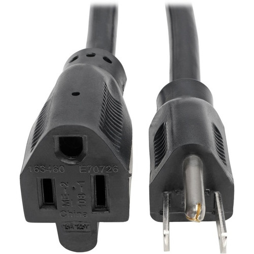 Tripp Lite 15ft Power Cord Extension Cable Heavy Duty 14AWG 5-15P 5-15R 15A 15'