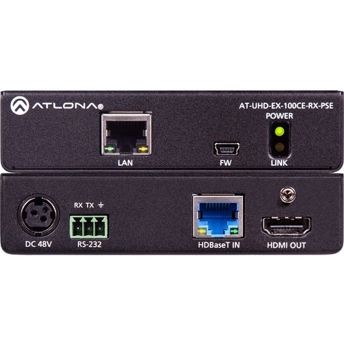 Atlona 4K/UHD Power Sourcing HDMI Over 100M HDBaseT Receiver