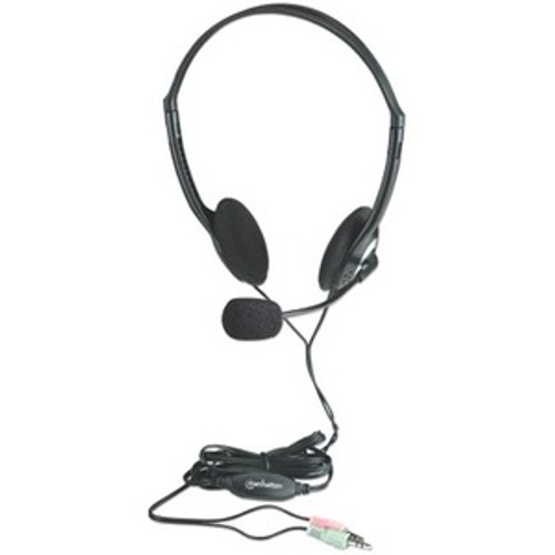 Manhattan Stereo Headset with Microphone and In-Line Volume Control 164429