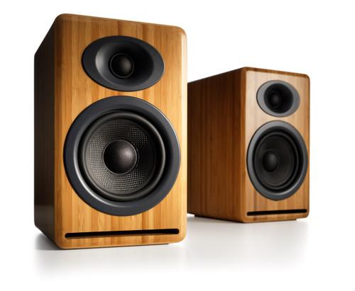 Audioengine P4 Passive Bookshelf Speakers with Natural Bamboo (Pair)