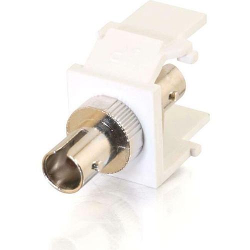 C2G Snap-In ST Fiber F/F Keystone Insert Module - White