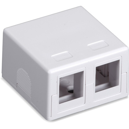 Black Box Value Line Surface-Mount Housing, 2-Port, White