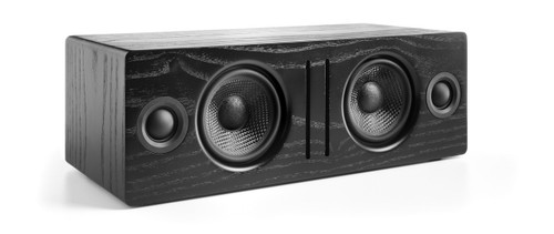 Audioengine B2 Premium Bluetooth Speaker (Black Ash) - Front no grill white background