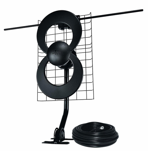 Antennas Direct C2-J30-V Clearstream 2V Long-Range HDTV Antenna with J-Mount and 30-ft RG6 Coax Cable