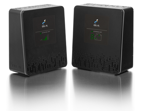 Cel-Fi DUO Smart Cell Phone Signal Booster for T-Mobile 3G,4G & 4G LTE - Network Unit and Coverage Unit.