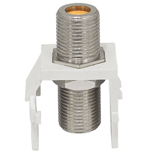 Perfect Vision DTVF81K-05 F-type Barrel Splice Connector White Keystone Insert - Bag of 100