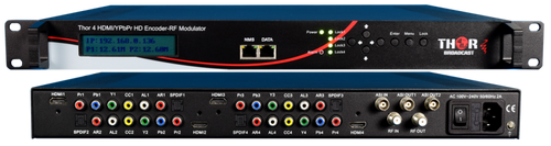 Thor H-4ADHD-ATSC-IPLL 4-Channel HDMI/YpPbr/Composite to ATSC Low Latency Encoder Modulator with IPTV