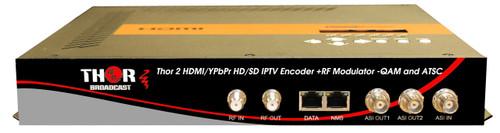 Thor H-2ADHD-QAM-IPLL 2-Channel HDMI/YpPbr/Composite to QAM & ATSC Low Latency Encoder Modulator with IPTV Streaming