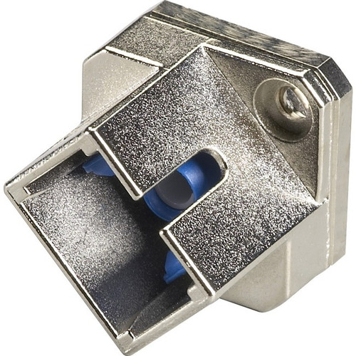 Black Box Fiber Optic Adapter - Singlemode, Simplex, Ceramic Sleeve, Square, SC-FC