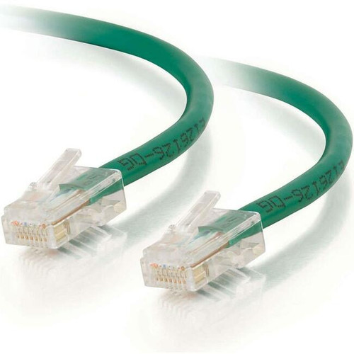 C2G-9ft Cat6 Non-Booted Unshielded (UTP) Network Patch Cable - Green