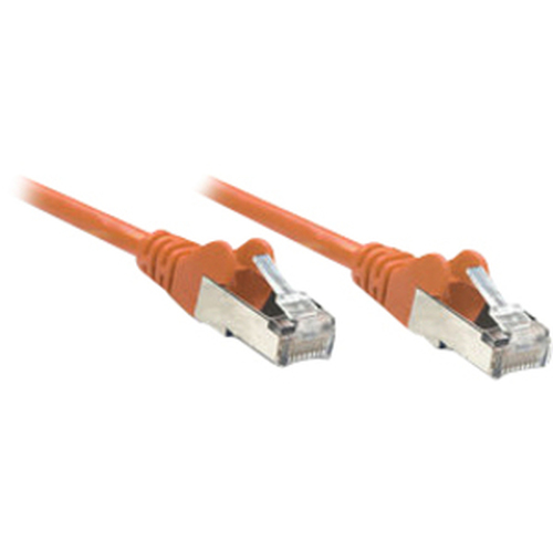Intellinet Network Solutions Cat6 UTP Network Patch Cable, 3 ft (1.0 m), Orange