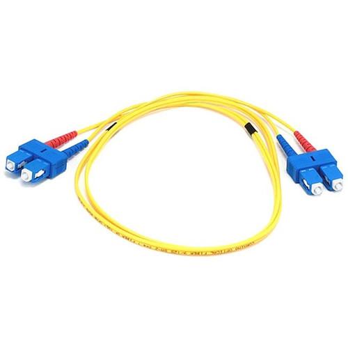 Monoprice Fiber Optic Cable, SC/SC, Single Mode, Duplex - 1 meter (9/125 Type) - Yellow