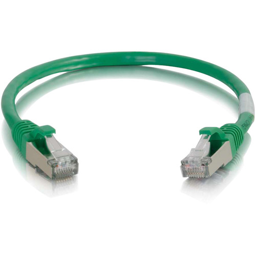 C2G 6in Cat6 Snagless Shielded (STP) Network Patch Cable - Green