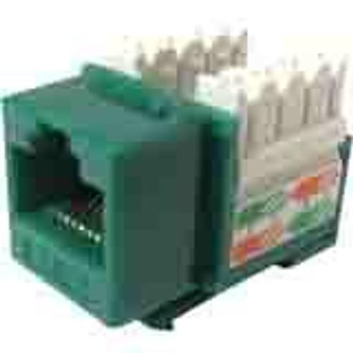 Weltron 8P8C Green Cat5E 568A/B Keystone Punch Down Jack (44-678GN)