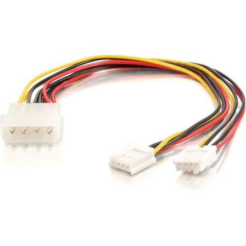 C2G 10in One 5-1/4in to Two 3-1/2in Internal Power Y-Cable
