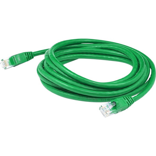 AddOn 15ft RJ-45 (Male) to RJ-45 (Male) Straight Green Cat6 UTP PVC Copper Patch Cable