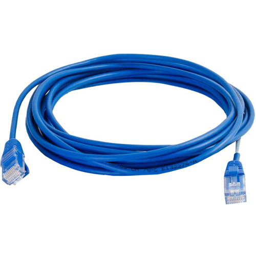 C2G 7ft Cat5e Snagless Unshielded (UTP) Slim Network Patch Cable - Blue