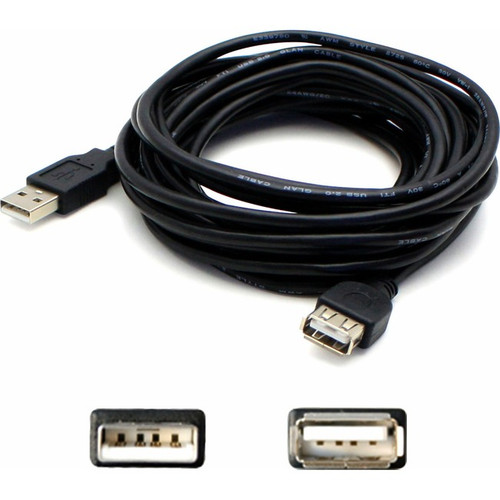 AddOn 6ft USB 2.0 (A) Male to Female Black Cable