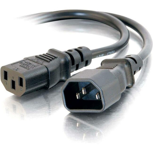 C2G 1ft 16 AWG 250 Volt Computer Power Extension Cord (IEC320C14 to IEC320C13)
