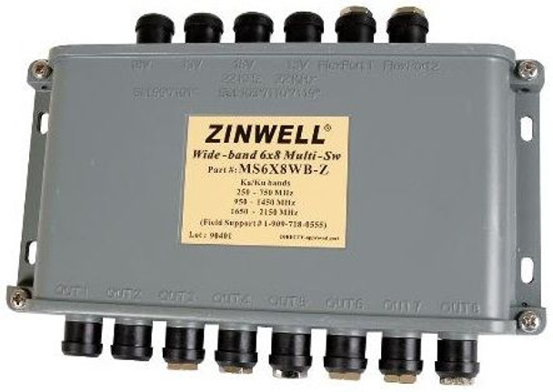 Zinwell DIRECTV Approved MS6X8WB Wideband Multiswitch