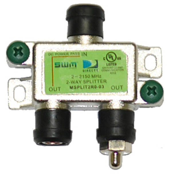 DIRECTV Approved SWM MRV 2-Way Wide Band Splitter