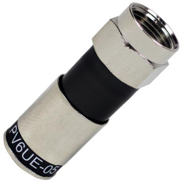 Perfect Vision PV6UE-05 Ridgeloc RG6 Universal Compression Connector (bag of 50) DIRECTV Approved