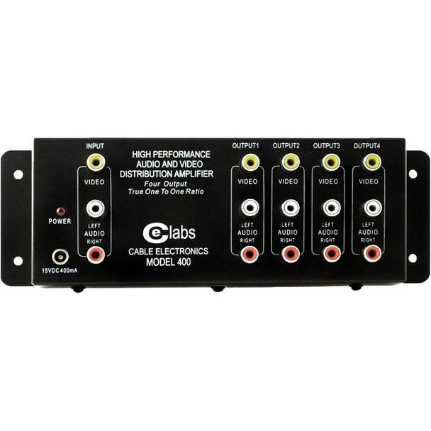 CE Labs AV400 1 x 4 Composite A/V Distribution Amplifier